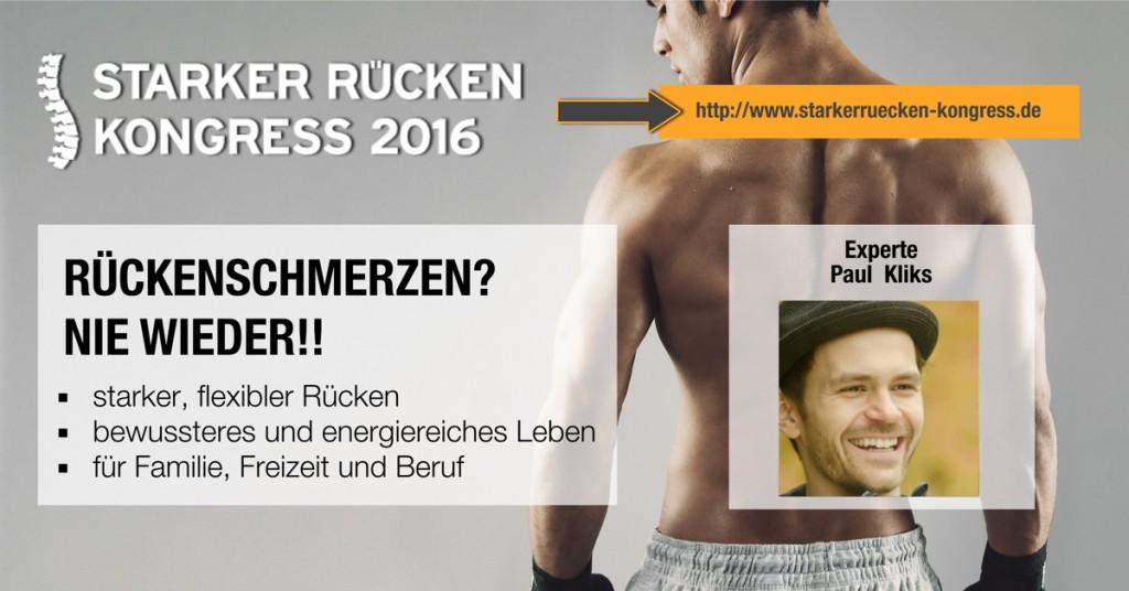 """Experte Paul Kliks beim """"Starker Rücken Kongress"""""""